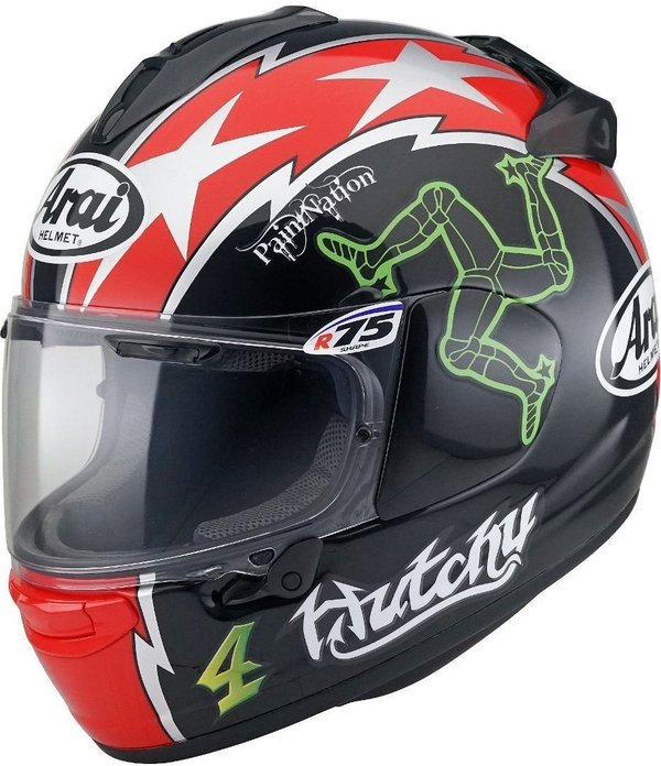 Arai Helm Chaser-X Hutchy TT black red green - UVP 699,00 Euro